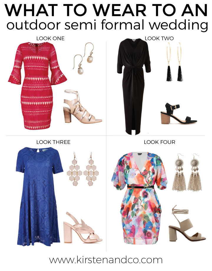what to wear to an outdoor semi formal wedding